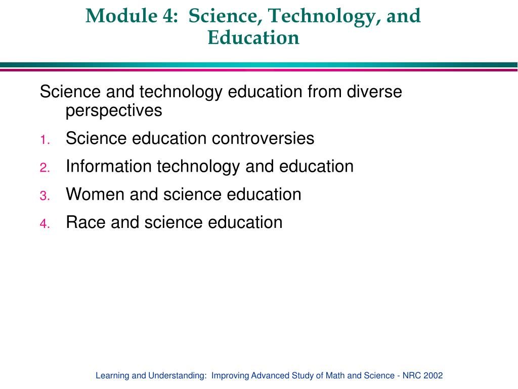 module 4 science technology and education l.