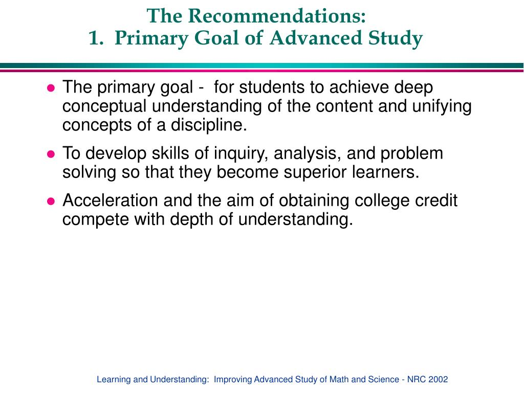 The Recommendations: