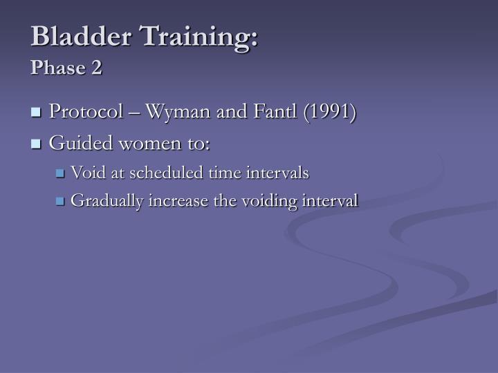 Bladder Training:
