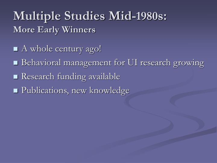Multiple Studies Mid-