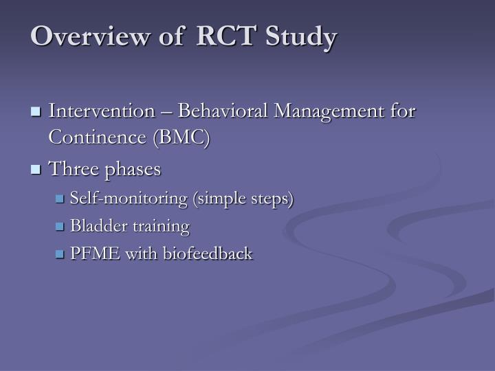 Overview of RCT Study