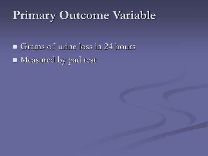 Primary Outcome Variable