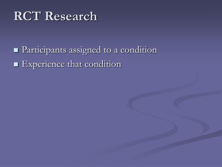 RCT Research