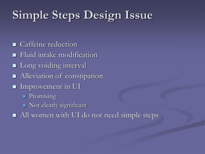 Simple Steps Design Issue
