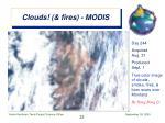 clouds fires modis