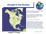 drought in the rockies