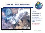 modis direct broadcast