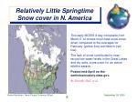 relatively little springtime snow cover in n america
