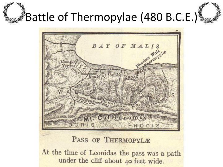 Battle of Thermopylae (480 B.C.E.)