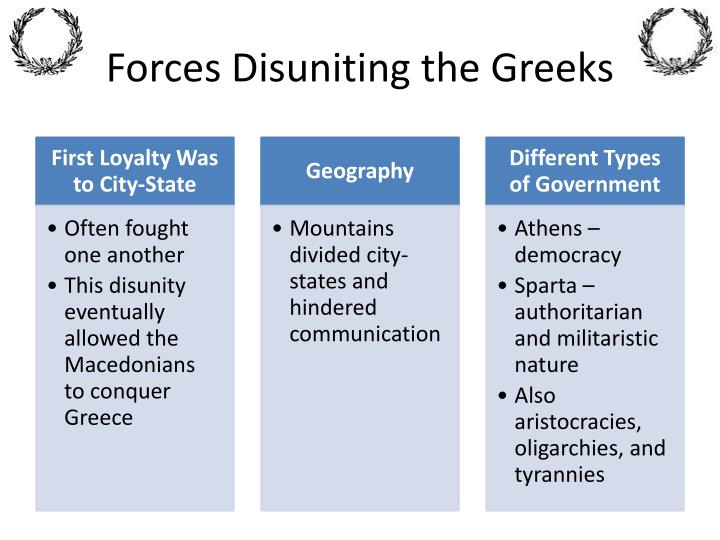 Forces Disuniting the Greeks