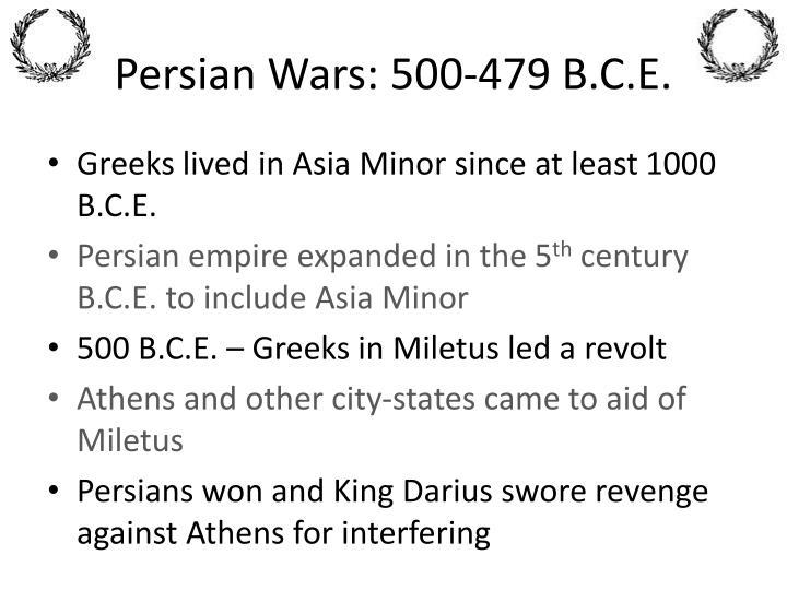 Persian Wars: 500-479 B.C.E.