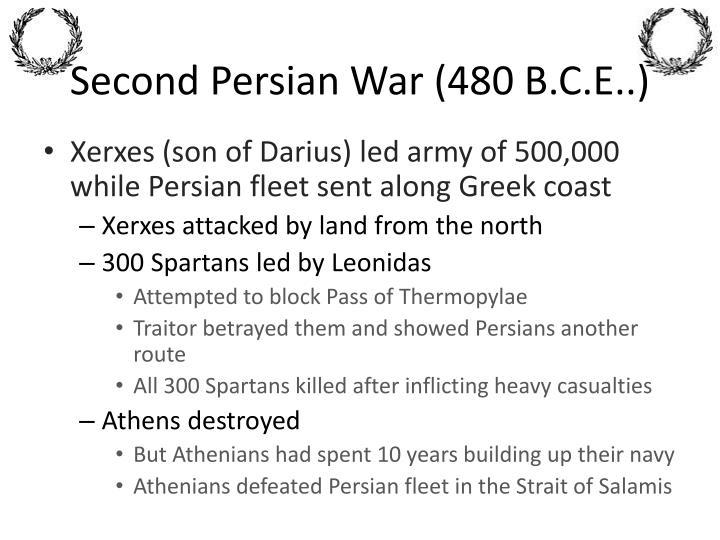Second Persian War (480 B.C.E..)