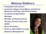 melissa walthers