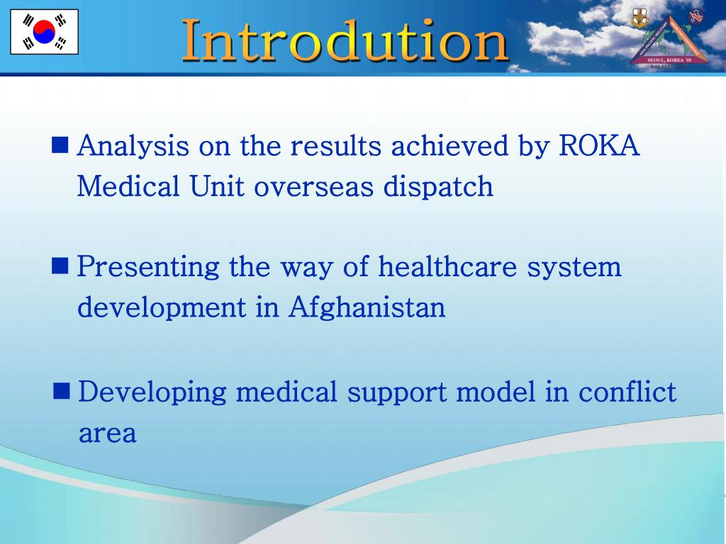 Analysis on the results achieved by ROKA Medical Unit overseas dispatch