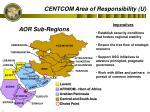 centcom area of responsibility u