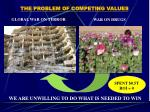the problem of competing values