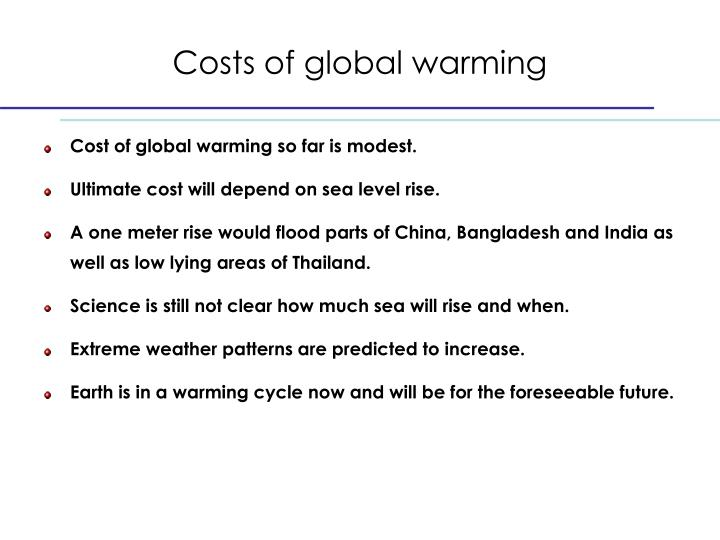 Costs of global warming