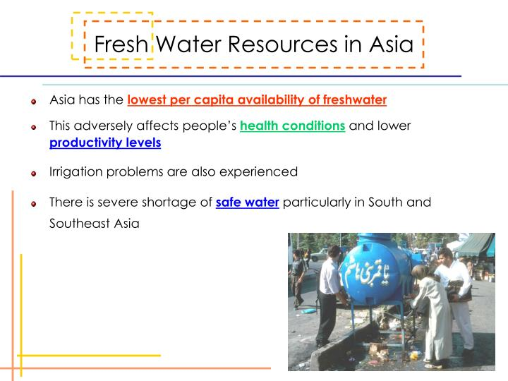 Fresh Water Resources in Asia