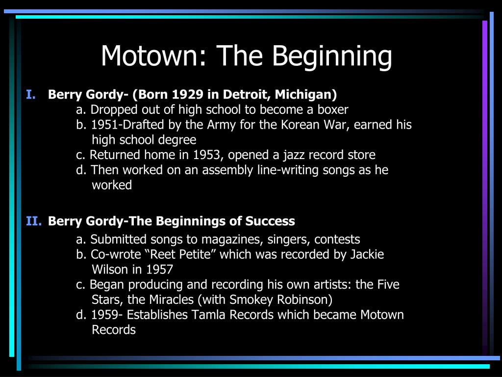 Motown: The Beginning