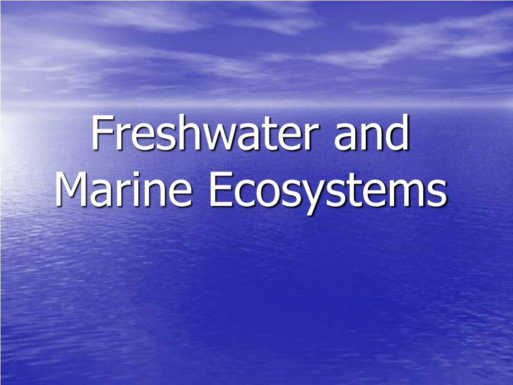 freshwater and marine ecosystems l.