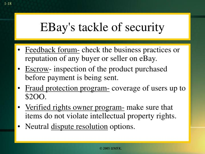 EBay's tackle of security