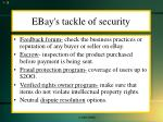ebay s tackle of security