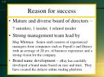 reason for success