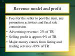 revenue model and profit
