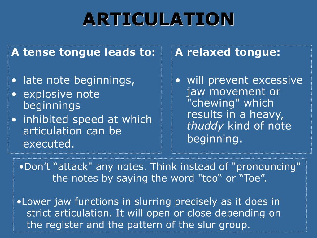 A tense tongue leads to: