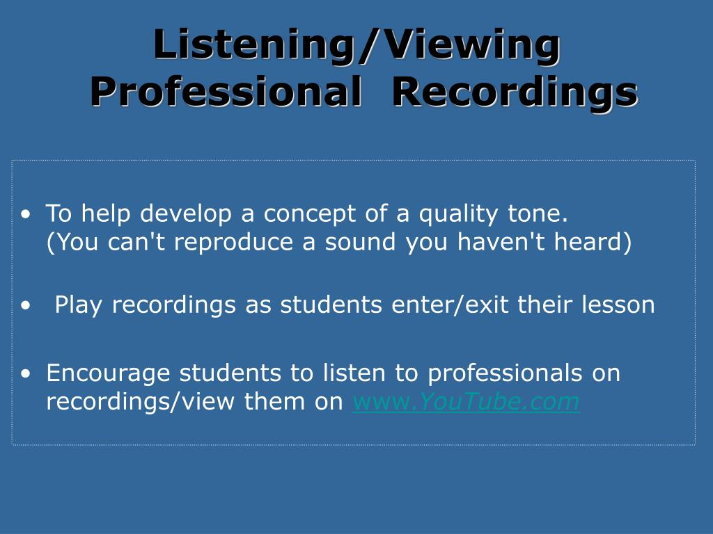Listening/Viewing