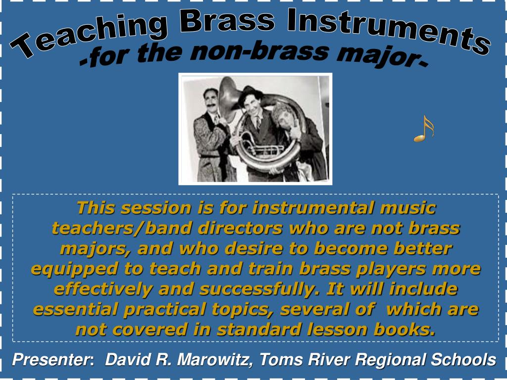 Teaching Brass Instruments