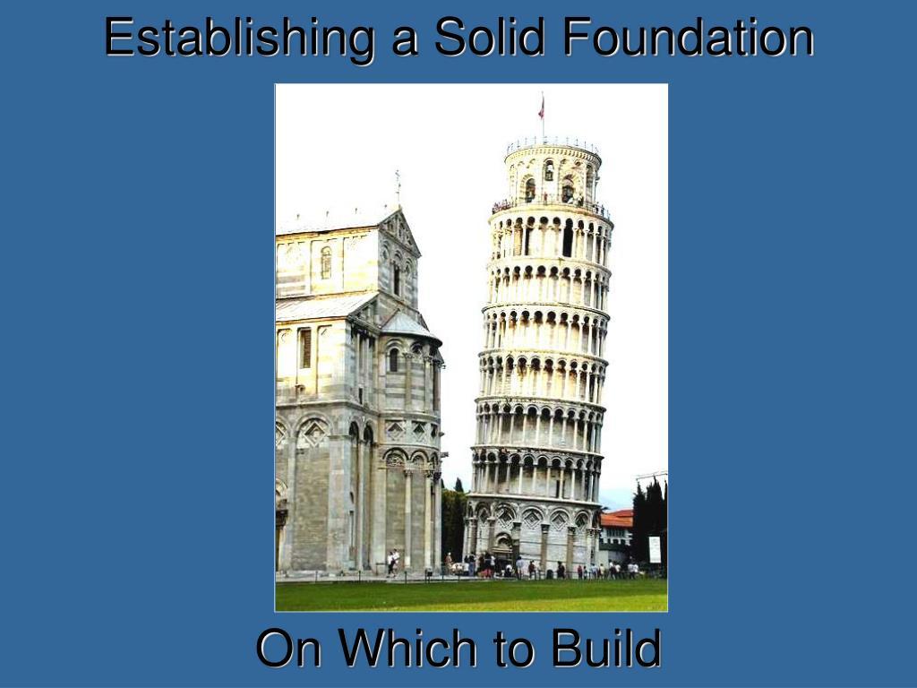 Establishing a Solid Foundation