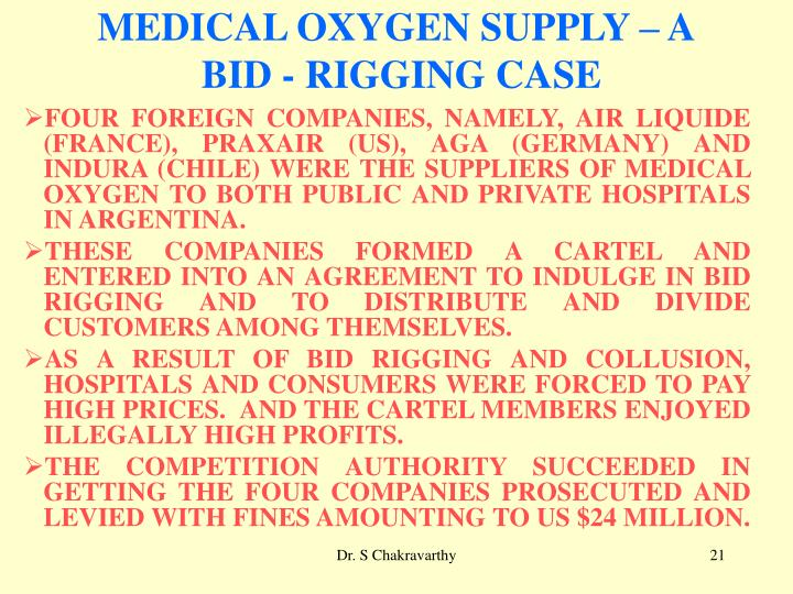 MEDICAL OXYGEN SUPPLY – A