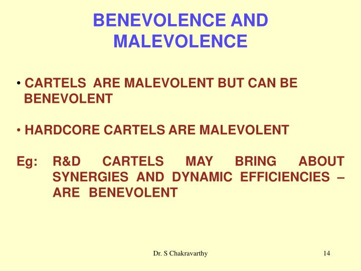 BENEVOLENCE AND
