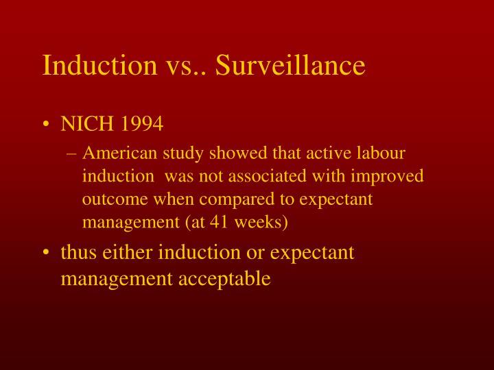 Induction vs.. Surveillance