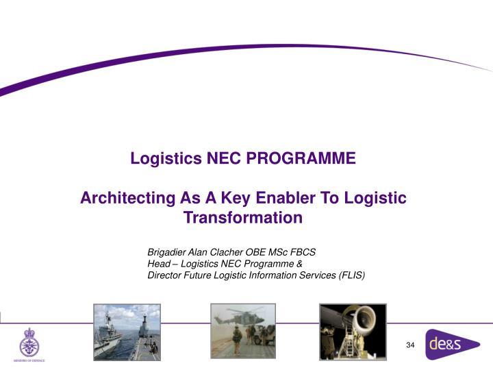 Logistics NEC PROGRAMME