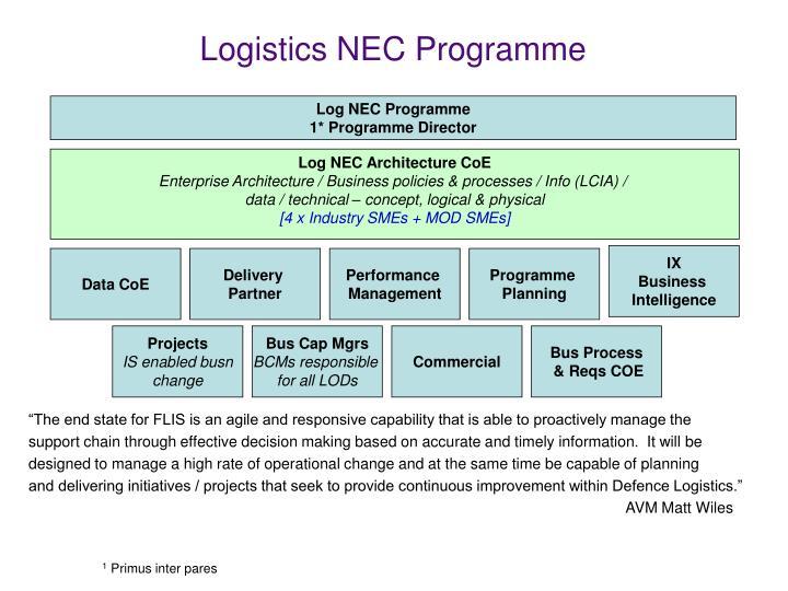 Log NEC Architecture CoE