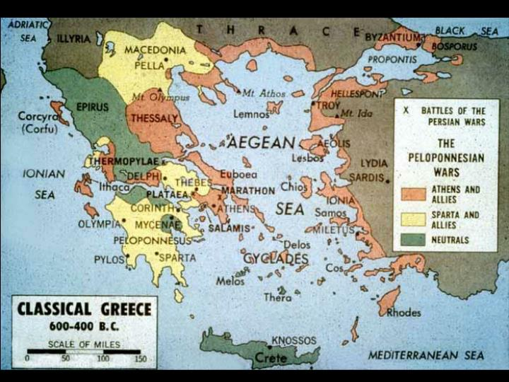 An alliance of several Greek city-states led by Athens