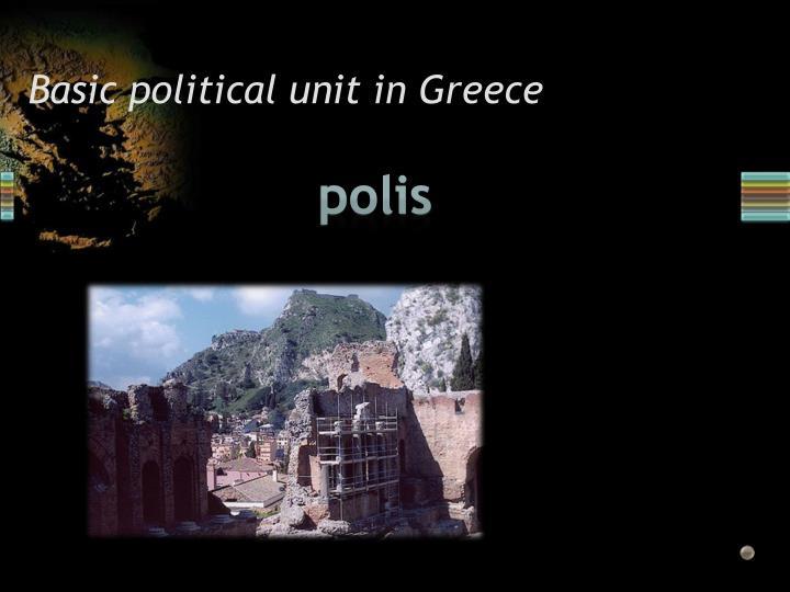 Basic political unit in Greece