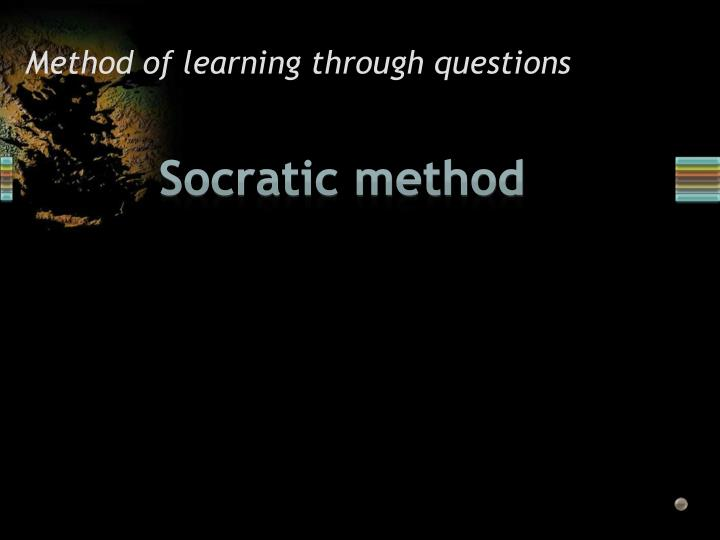 Method of learning through questions