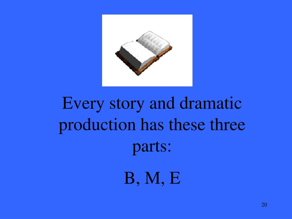 Every story and dramatic production has these three parts: