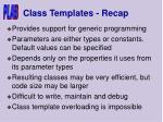 class templates recap