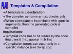 templates compilation