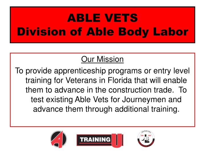 able vets division of able body labor n.