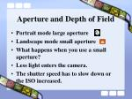 aperture and depth of field