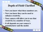 depth of field clarified