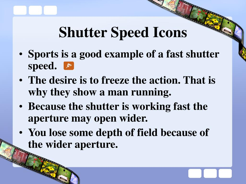 Shutter Speed Icons