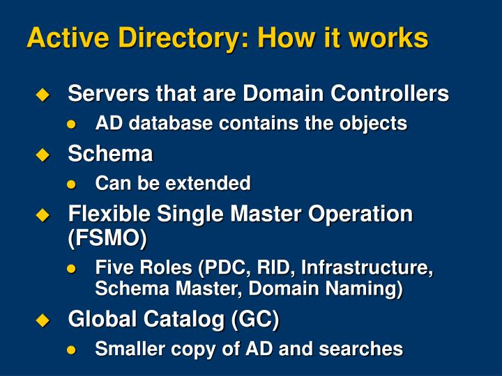 Active Directory: How it works