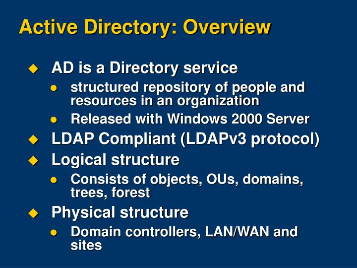 Active Directory: Overview