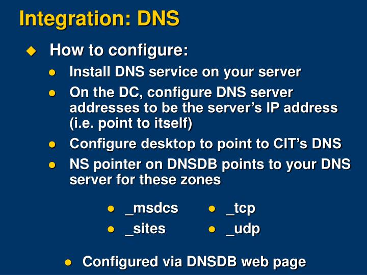 How to configure: